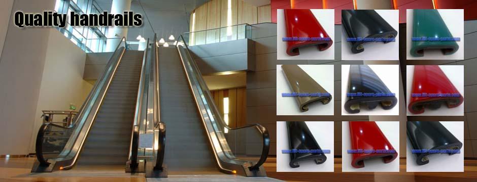 Escalator handrail